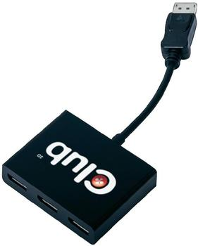 Club3D Multi Stream Transport (MST) Hub DisplayPort 1:3