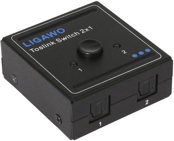 Ligawo 6518754 Toslink Audio Switch 2x1