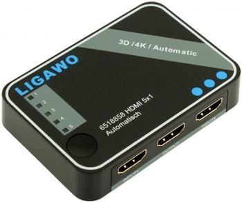 Ligawo 6518858 HDMI Switch 5x1 4K 3D