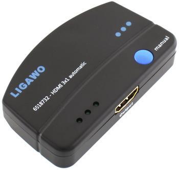 Ligawo 6518732 HDMI Switch 3x1