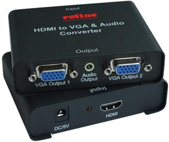 Roline HDMI zu VGA Video-Splitter (14.01.3526)