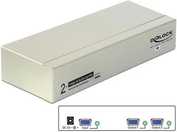 DeLock 2 Port VGA Splitter 87654
