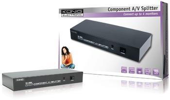 König KN-AVSPLIT20 4 Port Component + Audio Splitter
