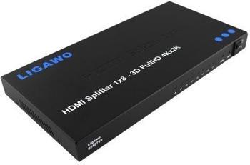 Ligawo 6518719 HDMI Splitter 1x8 4Kx2K
