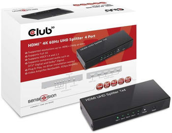 Club3D SenseVision HDMI 4K 60Hz UHD Splitter 4 Port (CSV-1380)