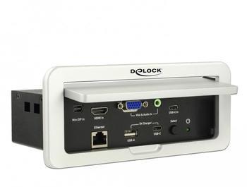 DeLock Multi-AV zu HDMI Konverter 4K 60 Hz für Tischeinbau