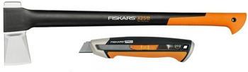 Fiskars Spaltaxt X25 + CarbonMax Messer