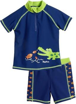 Playshoes UV-Schutz Badeset Krokodil blau