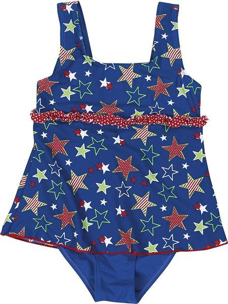 Playshoes UV-Schutz Badeanzug mit Rock (460285) Sterne blau