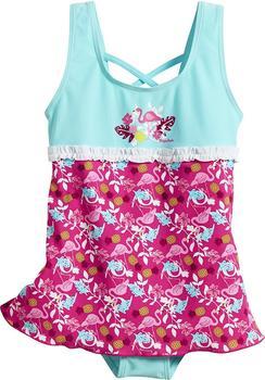 Playshoes UV-Schutz Badeanzug mit Rock (461205) Flamingo blau