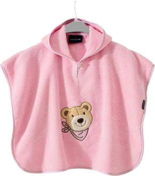 Morgenstern Badeponcho Luxus Bär rosa