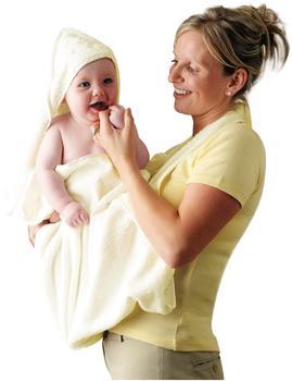 Clevamama Mutter und Kind Badetuch beige