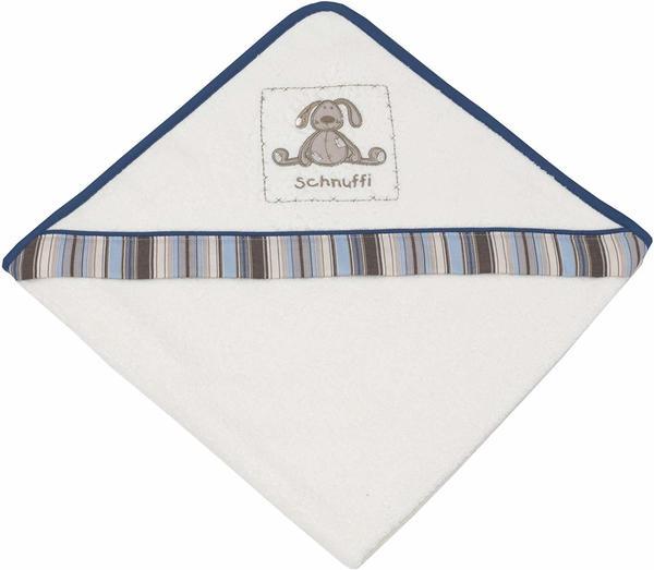 Be Be's Collection Kapuzenbadetuch 80x80cm - Schnuffi ecru blau