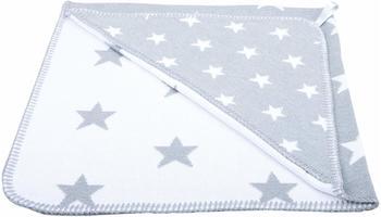 Baby´s Only Kapuzenbadetuch Sterne gestrickt grau
