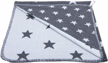 Baby´s Only Kapuzenbadetuch Sterne gestrickt anthrazit grau