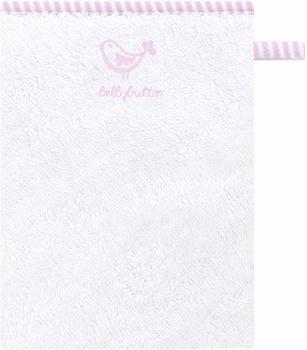Bellybutton Waschhandschuh 15x21cm - uni weiß rosa