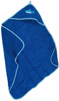 Playshoes Frottee-Kapuzentuch 75x75cm blau
