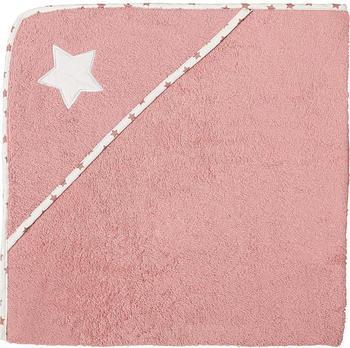 Erwin Müller Walk-Frottier Kapuzenbadetuch 140x140cm - rosa weiß