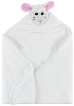 Zoocchini Baby Snow Terry Hooded Bath Towel - Lola The Lamb