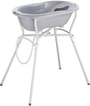 Rotho-Babydesign Badelösung mit Standard Badewannenständer stone grey