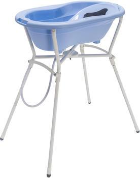 Rotho-Babydesign Badelösung mit Standard Badewannenständer sky blue