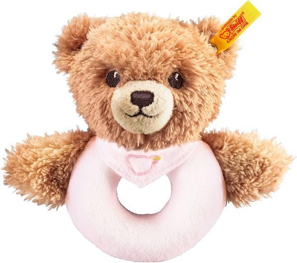 Steiff Schlaf Gut Bär Greifring rosa 12 cm