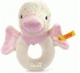 Steiff Schnatter-Ente Greifring rosa