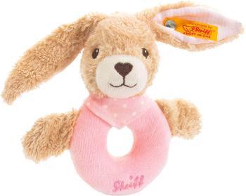 Steiff Hoppel Hase Greifring rosa 12 cm