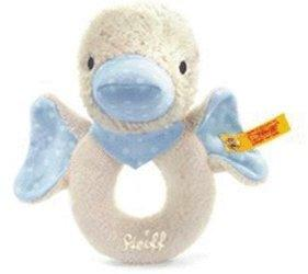 Steiff Schnatter-Ente Greifring blau