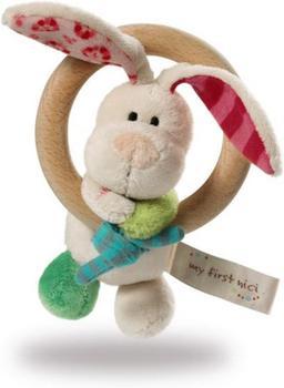 NICI Holzgreifring Hase Tilli mit Glocke