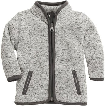 Schnizler Knitted Fleece Jacket grey (860301-33)