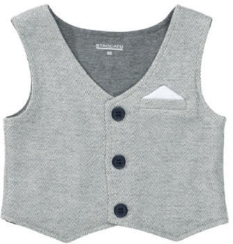 Staccato Weste grey melange structure (230075873-818)