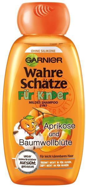 Garnier Wahre Schätze für Kinder mildes Shampoo 2 in 1 Aprikose und Baumwollblüte (250ml)