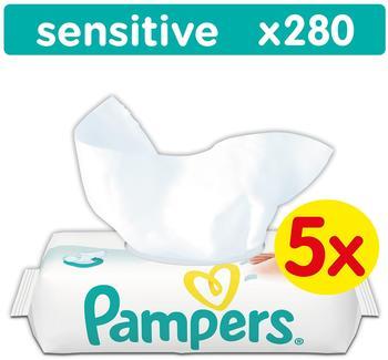 Pampers Sensitive Feuchttücher (5 x 56 Stk.)