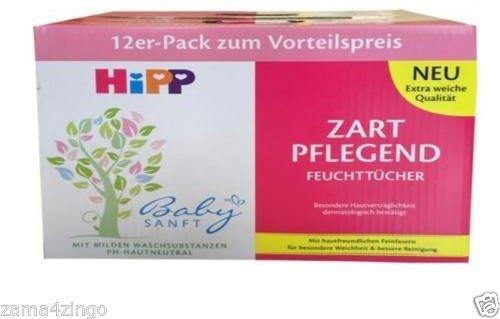 Hipp Babysanft Feuchttücher Zart Pflegend (12 x 56 Stk.)