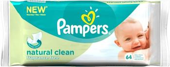 Pampers Natural Clean Baby Wipes (64 pck)