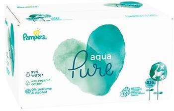 Pampers Aqua Pure Feuchttücher (7 x 48 Stk.)