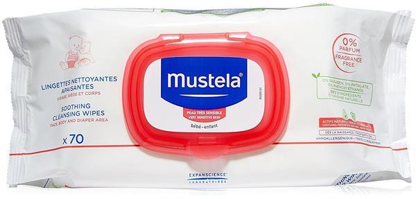 Mustela Very sensitive skin - Soothing cleansing wipes (x 70)