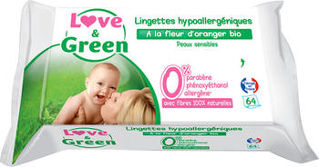 Love & Green Baby wipes (x 64)