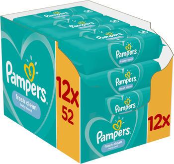Pampers Fresh Clean Feuchttücher (12 x 52 Stk.)
