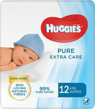 Huggies Feuchttücher Pure Extra Care (12 Pack x 56 St)