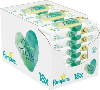 Pampers Pure Coconut Feuchttücher 18 x 42 Stück