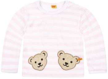 Steiff Nicki-Sweatshirt mit 2 Bärenköpfen rosa