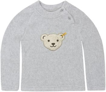 Steiff Fleece-Pullover mit quietsch Bär grau