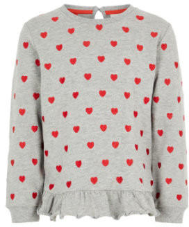 Name It Girls Sweatshirt NMFLUBA grey melange (13166898)