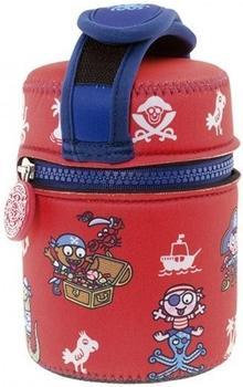Laken Insulated Food Flask with cover by Katuki Saguyaki red