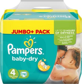 Pampers Baby Dry Gr. 4 (7-18 kg) 78 St.