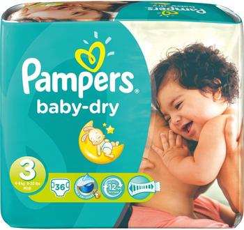 Pampers Baby Dry Gr. 3 (4-9 kg) 36 St.
