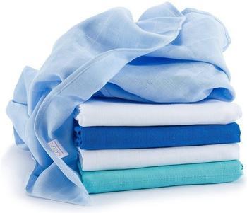 Makian Mullwindeln (70 x 70 cm) 5er Pack Blau Weiß