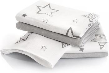 Makian Sterne (70 x 70 cm) 4er Pack Weiß Grau